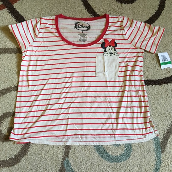 2c528770ca Disney Tops   Minnie Mouse Tee Size Large Stripes   Poshmark